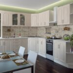 кухня из беленого дуба оформление