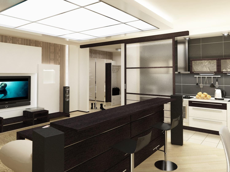 оформление кухни-гостиной