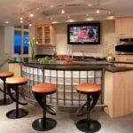 вариант освещения и декора на кухне