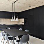 кухня минимализм черная