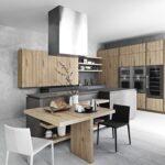 кухня минимализм натуральное дерево
