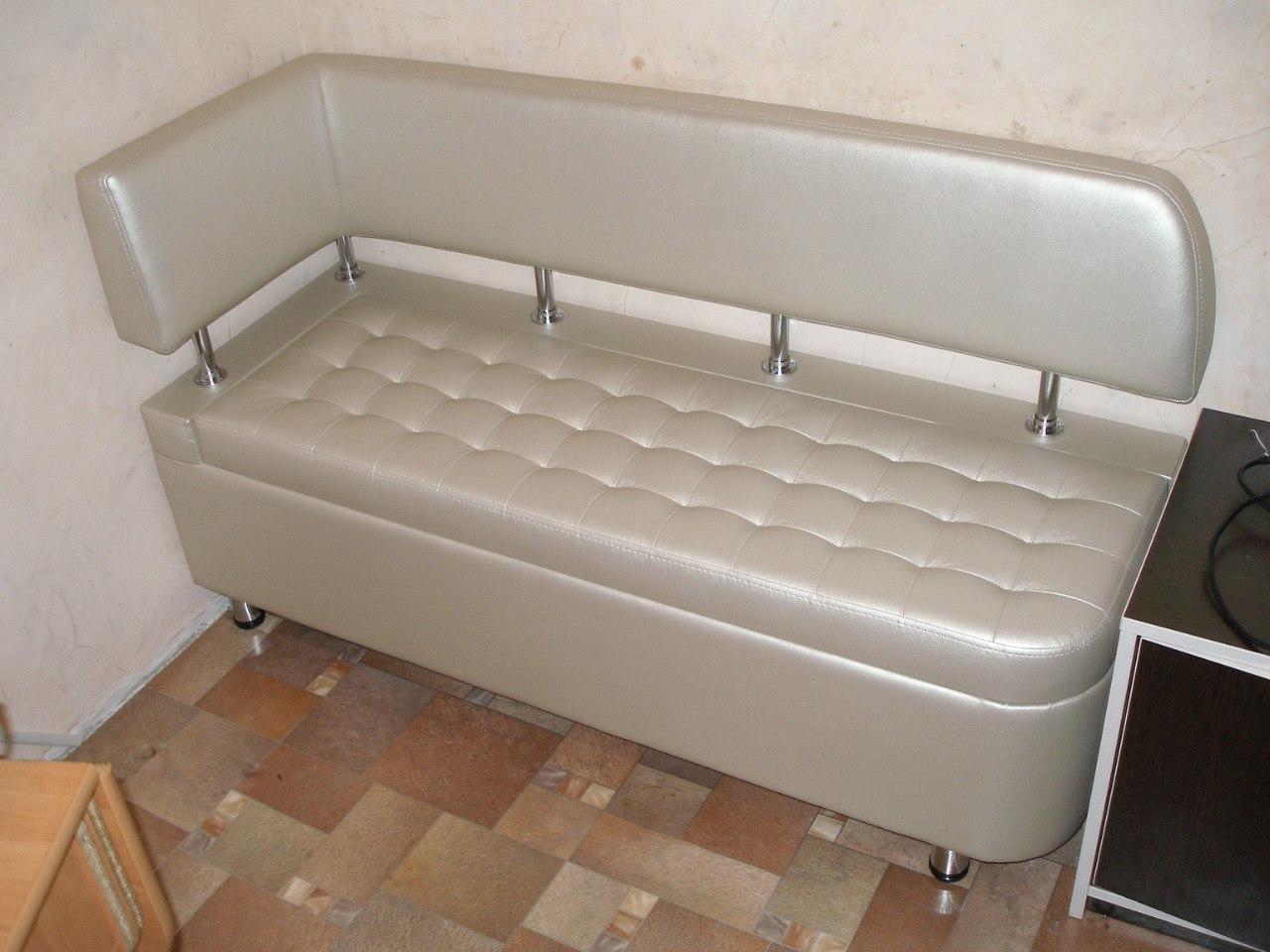 кухонный диван из экокожи