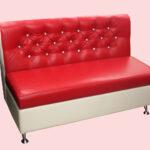 кухонный диван красный