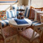 кухонный диван морской