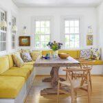 кухонный диван желтый