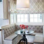 кухонный диван с каретной стяжкой
