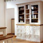 буфет кухонный белый широкий