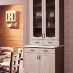 буфет кухонный белый с коричневым