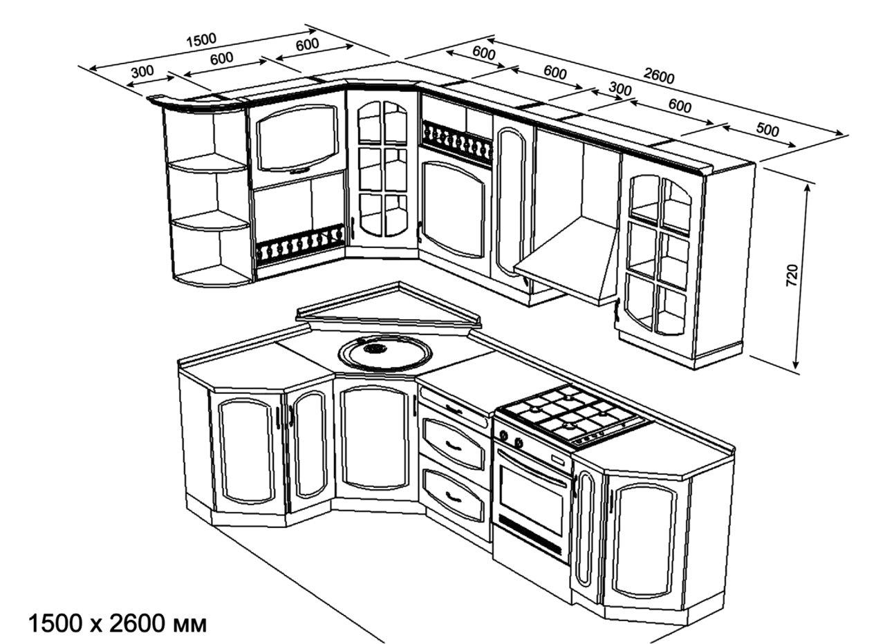 Размер кухни
