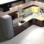 эскиз дизайна кухонного гарнитура
