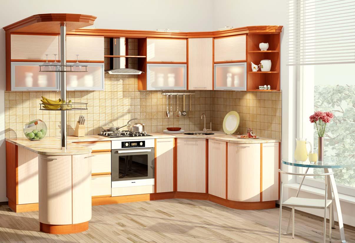 Угловой вариант кухонного гарнитура