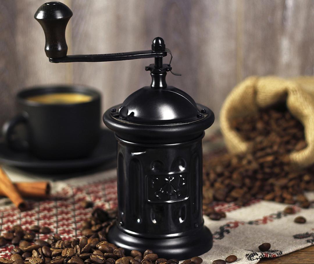 жерновая кофемолка ручная
