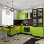 кухня от леруа мерлен серо-зеленая
