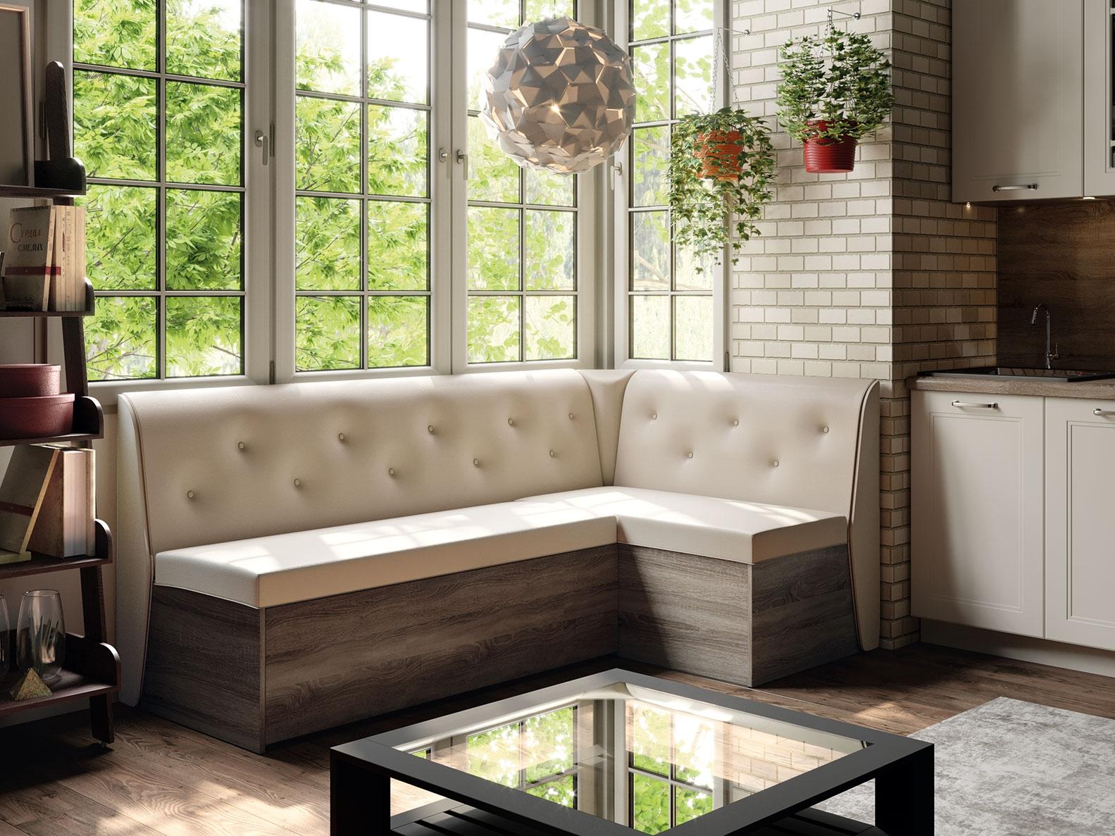 Кухонный диван на кухню с ящиком дизайн