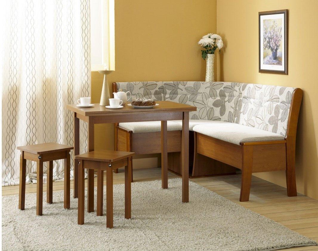 Кухонный диван на кухню с ящиком внешний вид