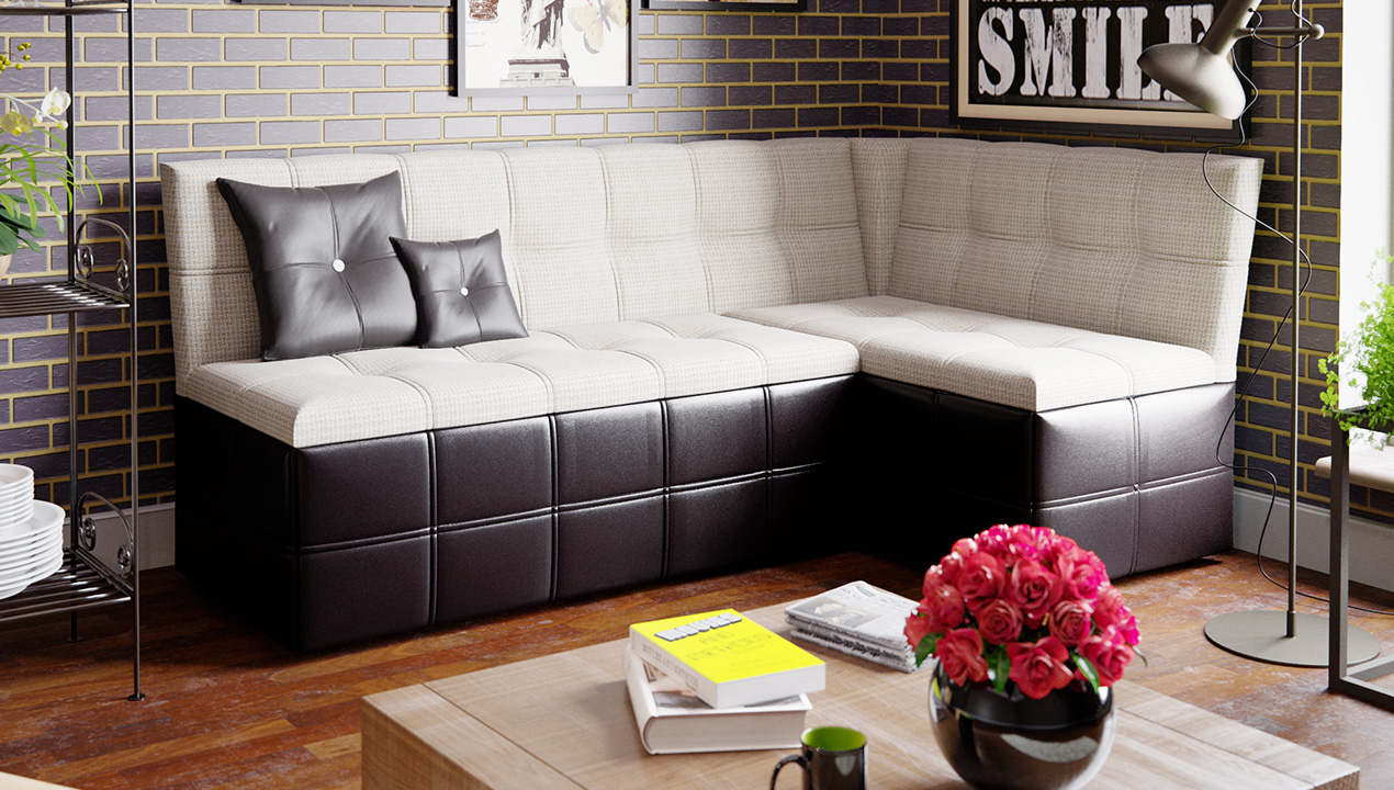 Кухонный диван на кухню с ящиком