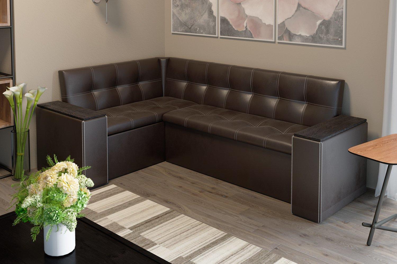 Кухонный диван с ящиками обивка