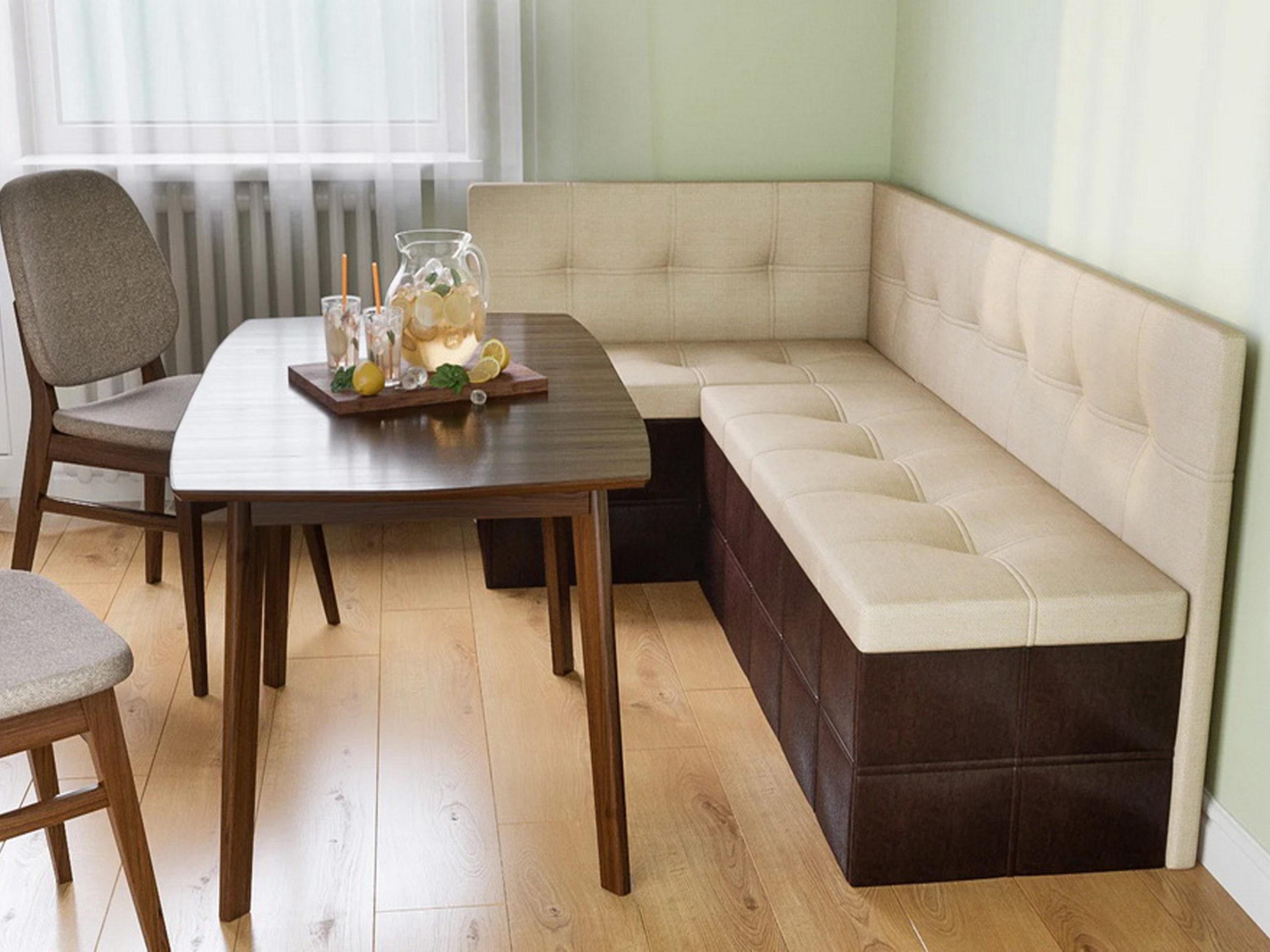 Кухонный диван с ящиками перетяжка