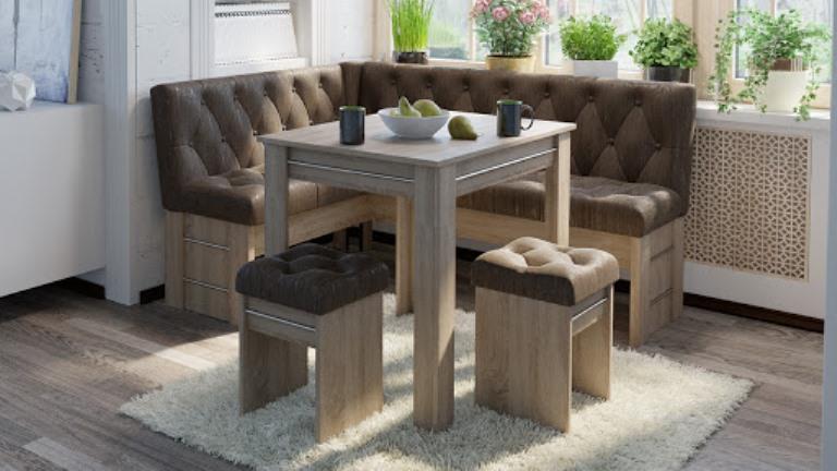 Кухонный диван с ящиками угловой