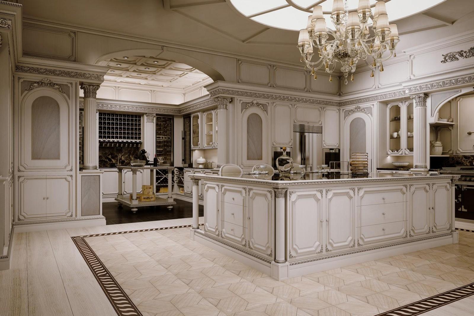 большая классическая кухня