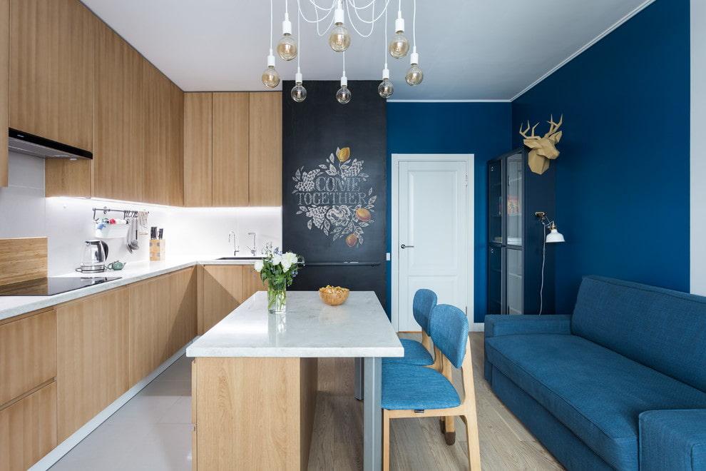 диван со спальным местом на кухне