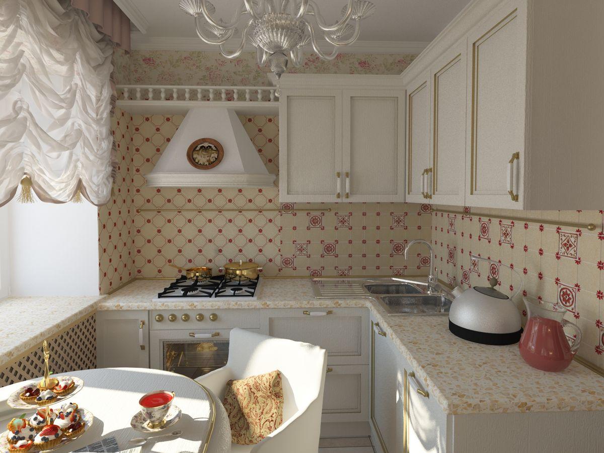 маленькая классическая кухня