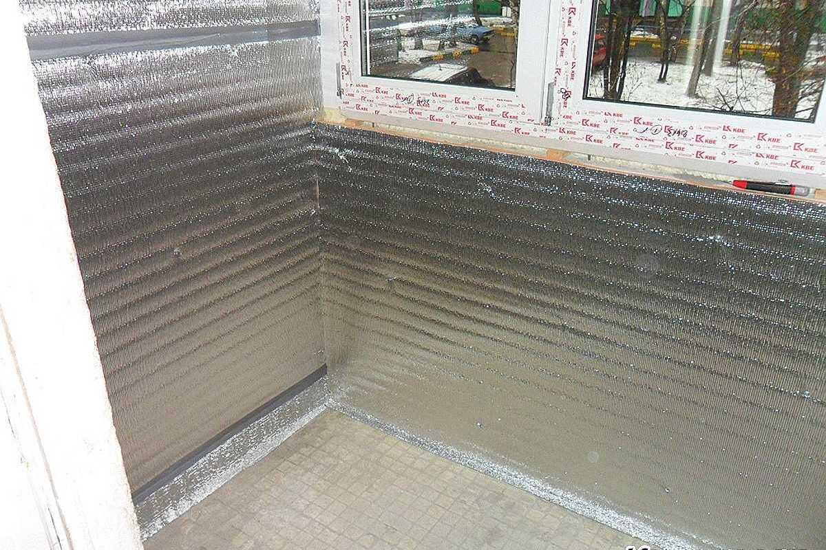 материалы для утепления балкона изнутри