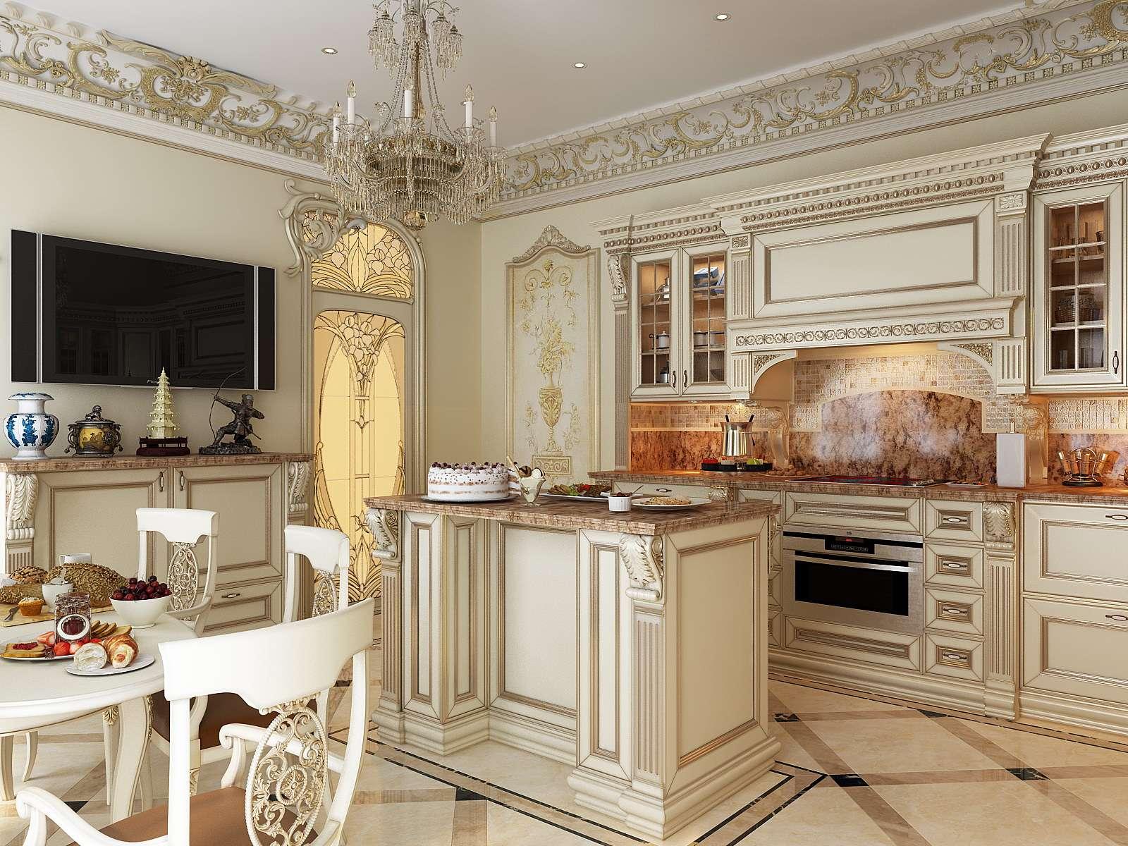 материалы классического стиля кухни