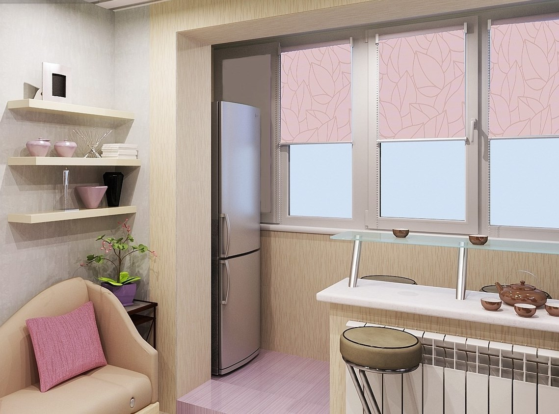 минусы балкона с кухней
