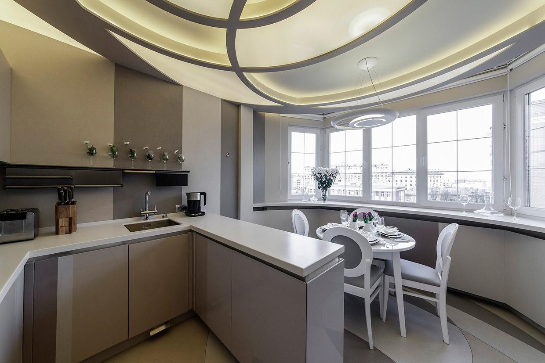 оъбедение балкона кухней мебель