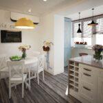 объединение балкона с кухней 10