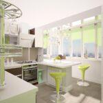 объединение балкона с кухней 11