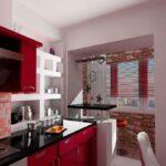 объединение балкона с кухней 13