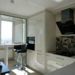 объединение балкона с кухней 14