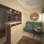 объединение балкона с кухней 17