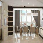 объединение балкона с кухней 18