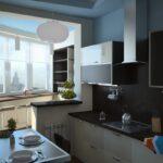 объединение балкона с кухней 2