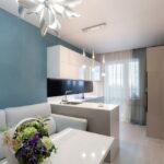 объединение балкона с кухней 20