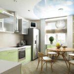 объединение балкона с кухней 21