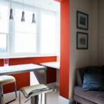 объединение балкона с кухней 24