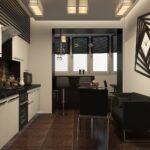 объединение балкона с кухней 3