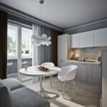 объединение балкона с кухней 31