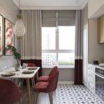 объединение балкона с кухней 35