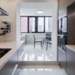 объединение балкона с кухней 41