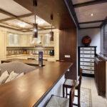 объединение балкона с кухней 46