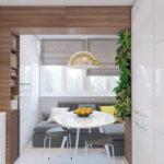 объединение балкона с кухней 47