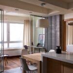 объединение балкона с кухней 5