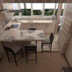 объединение балкона с кухней 6