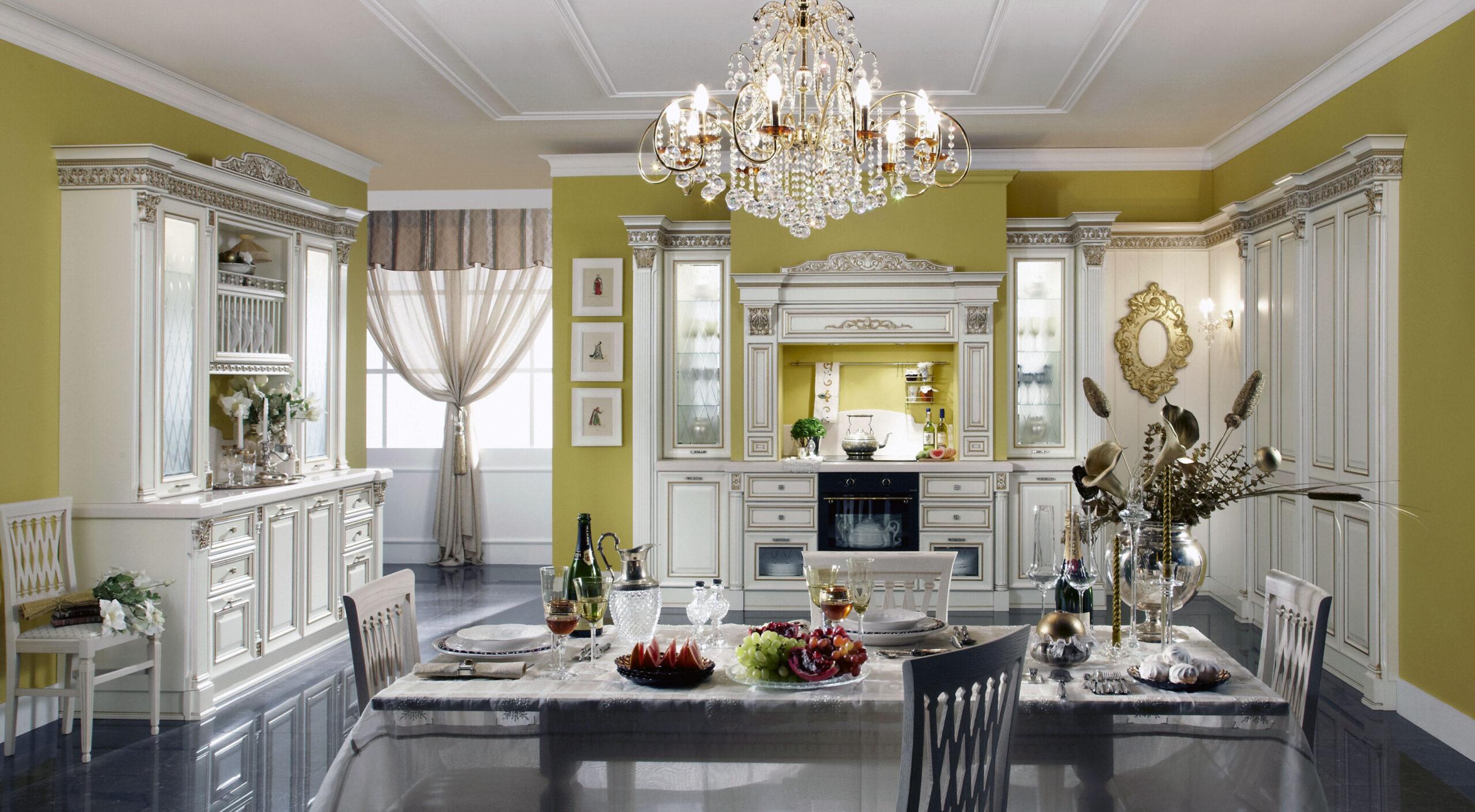 освещение классической кухни