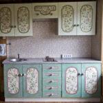 перекраска кухонного гарнитура фото интерьер